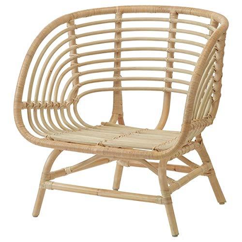 BestOnlineDeals01 BUSKBO Sillón de ratán, 42 x 72 x 63 cm, resistente y fácil de cuidar, sillones de ratán, sillones y chaise longues, sofás y sillones, muebles respetuosos con el medio ambiente