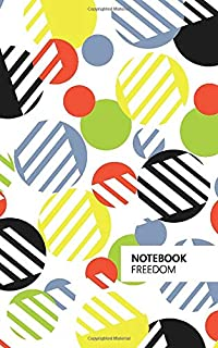 Freedom Notebook: (Bright Edition) Fun Notebook 96 Ruled/Lined Pages (5x8 inches / 12.7x20.3cm / Junior Legal Pad/Nearly A5)