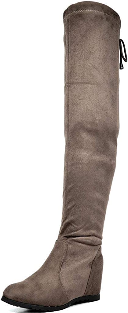 DREAM PAIRS Women's Faux Suede Over The Knee Boots Cheap Thigh High Spasm price