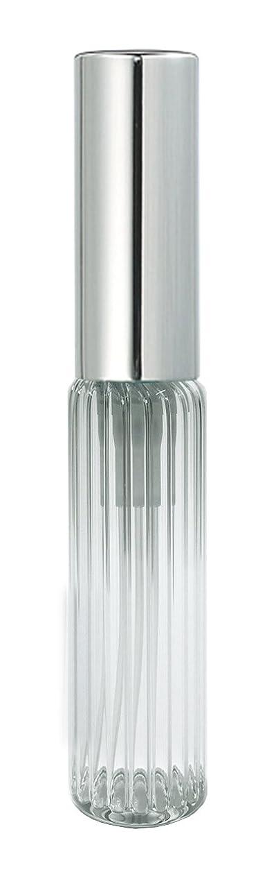 まぶしさ強大な交換可能60502 グラスアトマイザー ストライプ シルバーキャップ