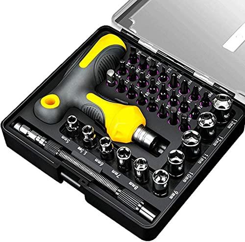 Set de Destornillador de trinquete T-Tipo 36 en 1 Magnético S2 SCE STEIL DIRVERTURS bits TELESCÓPICA Mango Ajustable Herramientas HOGARES
