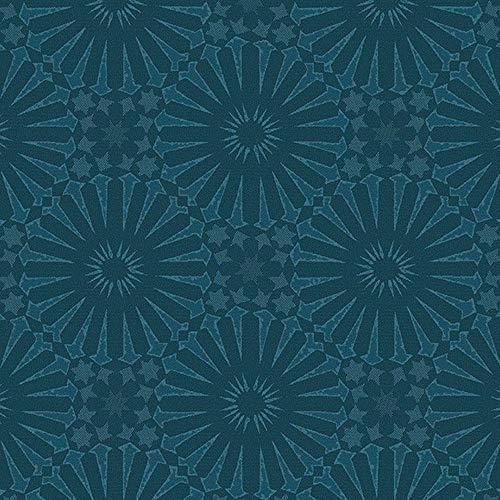 Garnier Thiebaut Mille Riads Serviette de Table Bleu pétrole 48,3 x 48,3 cm 100% Polyester