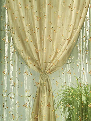 Home Collection TDS116 Tenda Doppia Shantung, Poliestere, Naturale, 140x280 cm