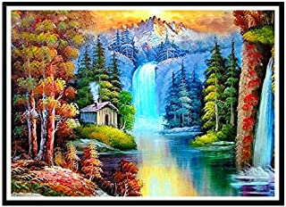 5D DIY Diamond Painting Kit Full Diamond Mountain waterfalls Landscape Painting Cross Stitch Diamond Wall Stickers Home De...