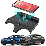 Chargeur sans Fil Voiture pour BMW 5 Series M5 2017-2021/6 Series M6 2018-2019 Console Centrale Panneau Accessoires, 10W Rapide Charge Support de Téléphone pour iPhone 12 11 Samsung S20 S10