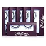 Sofia by Timid Lashes   Six-Pack Premium Quality Natural False Eyelashes