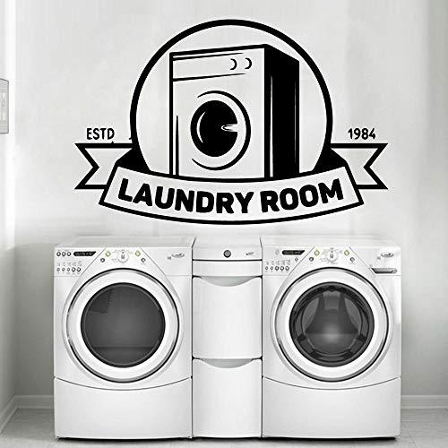 Lindas pegatinas de pared para lavandería, pegatinas de decoración de pared para habitación de niños, murales de sala de estar, pegatinas de pared impermeables A2 43x65cm