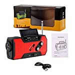 Emergency Hand Crank Radio, FORNORM Solar Radio 2000mAh Power Bank Wind Up Radios with Phone Charger and 4 LED Reading…