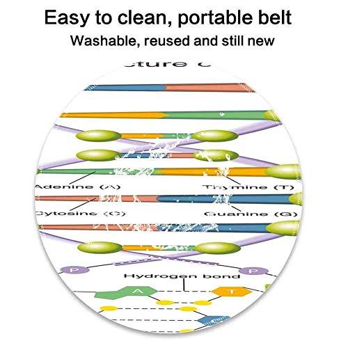 Runde Mausunterlage mit pädagogischer bunter Struktur von Aminosäure-Nukleotiden des DNA-genetischen Codes wissenschaftliche Studie Mehrfarbig