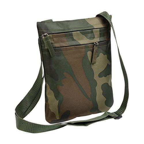 Borsello Uomo Tracolla Piccolo Militare Mimetico Tracolla Uomo Mimetica Camouflage Due Tasche Sottile Sportivo Regolabile Lunghezza max 60 cm H 24 cm L 18 cm