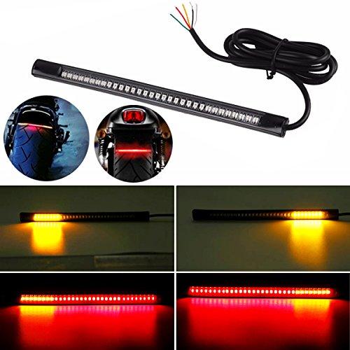 【Spring】 バイク ブレーキランプ赤色 ledテープ柔軟な 48 LEDs バイク用 汎用 12V DC レッド信号ライトストリップ 高輝度 防震 防水 バイク シーケンシャルウインカー テールランプ