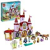 LEGO 43196 Disney Princess Belles Schloss, Schöne und das Biest, Prinzessin Schloss und Belle Mini Puppen, Spielzeug ab 6 Jahre