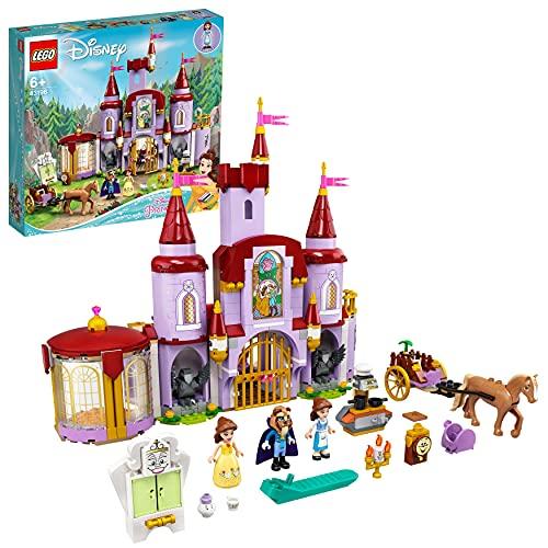 LEGO Disney Princess Il Castello di Belle e della Bestia, Set delle Principesse con 3 Mini Bamboline, 43196