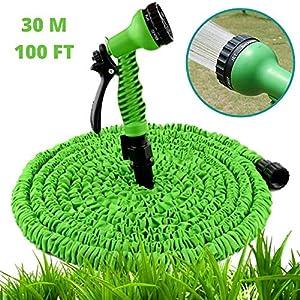 Patabit – Caña de agua extensible para jardín – Manguera de agua extensible para riego – Bomba de agua con juego de…