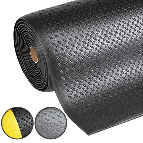 Anti-Ermüdungsmatte Dyna-Protect Diamond | Arbeitsplatzmatte | Diamantstruktur | Schwarz | 90x300 cm