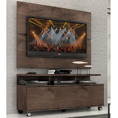 """Rack Com Painel Home Buzios 1,2 M Para Tv 48"""" Chocolate"""