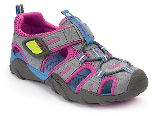 pediped Flex Canyon Water Sandal (Toddler/Little Kid/Big Kid), Charcoal Pink, 24 EU(7.5-8 E US...