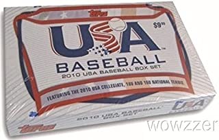 2010 Topps USA Baseball Factory Sealed 65 Card ROOKIE Box Set with FIRST EVER Rookie Cards of Dodgers COREY SEAGER and Alex Bergman, Gerrit Cole, George Springer, Anthony Rendon & Many More!