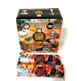 SOEX- Quick lite Hookah Charcoal-Big Size Coal (40 mm)-Pack of 8 Rolls-Each 10