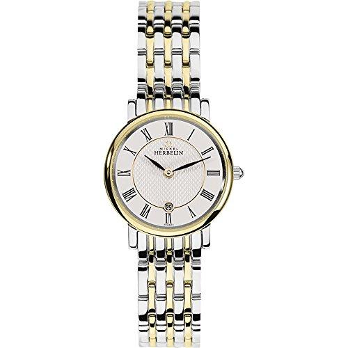 Michel Herbelin Unisex Erwachsene Analog Uhr mit Edelstahl Armband 16945/BT01