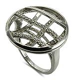 – Bague–Argent 925/1000oxyde de zirconium–Taille 54treillis S07GPS, téléphone portable