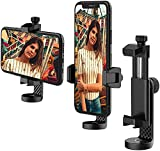 Anozer Tripod Cell Phone Mount Adapter, Universal Smartphone Tripod Mount with Cold Shoe, 360°Rotatable Phone Holder, Fits Tripod, Monopod & Selfie Stick, Compatible with iPhone, Samsung & All Phones