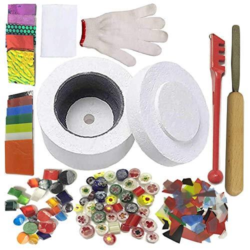 Juego de molinillos de microondas profesionales – para bricolaje joyería de cristal fusionar herramientas de horno 12 piezas