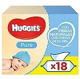 Huggies Pure Toallitas para Bebé - 18 paquetes de 56 unidades (1008 Toallitas)