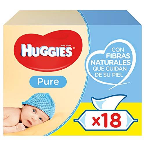 Huggies Pure Toallitas para Bebé - 18 paquetes de 56 unidades (1008...