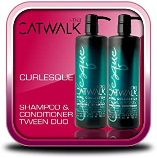TIGI Catwalk Curlesque Hydrating Shampoo and Conditioner Duo 25.36oz Each NEW