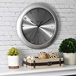 FirsTime & Co. Plasma Steel Wall Clock, 11, Silver