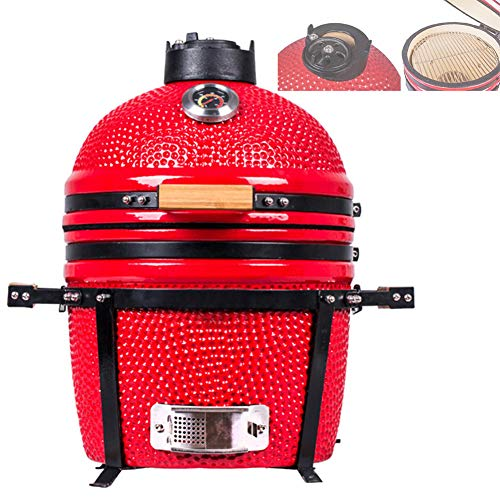 ZLKB Ceramic Grill Oven BBQ, for Grilling Slow Cooking Smoking Baking,Thick Ceramic Wall for Heat Storage