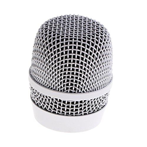 Almencla Mesh Wireless Handmikrofon Grillkopf DIY Mic Zubehör Silber