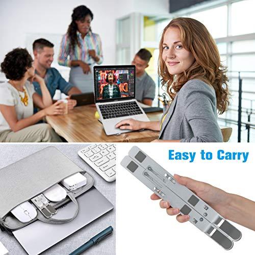 Laptop Ständer Notebook Ständer Tragbarer Faltbare Laptophalterung Silikongeschützt Rutschfester Ständer Aluminiumlegierung 7 Stufe Höhenverstellbar Für Tablet MacBook iPAD Dell Huawei Samsung Acer