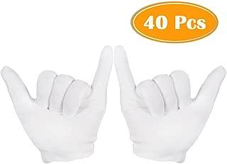 white museum gloves