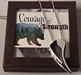 Smiling Wisdom - Bear Tooth - Courage and Strength Gift Set - Bear Tooth Necklace - Encouraging Gift for Dad, Son, Teen, Friend, Employee, Father's Day