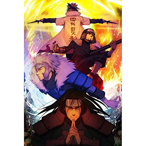 QTRT Naruto Hokage Sammlung Orange Hintergrund Holz-Puzzle, 1000pcs Anime-Karikatur 3D DIY Puzzles, Dekomprimierung Lernspiel-Spaß-Spielzeug-Geschenk for Familie Freunde Anime-Fan (Größe : 1000pcs)