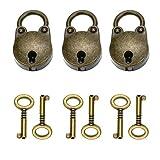 3 Stücke Antik Vintage Panda Mini Vorhängeschloss mit 6 Stücke Schlüssel Set Für Partei Geschenk, Dekoration (Bear)