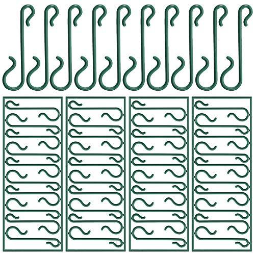 Pveath Weihnachtsbaum Haken,250 Stück grüne Ornament Haken Mini Kleiderbügel kleine Spirale Kleiderbügel für Weihnachtsbaum, Weihnachtskranz, Christmas Vine Dekoration, (S-Haken)