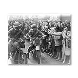 Zhaoyangeng Vintage Negro Blanco Vintage Wwii Foto Póster   Guerra Impresa, Regalo Militar Retro, Imagen De Pared, Lienzo, Decoración De Pintura, 50X70 Cm Sin Marco