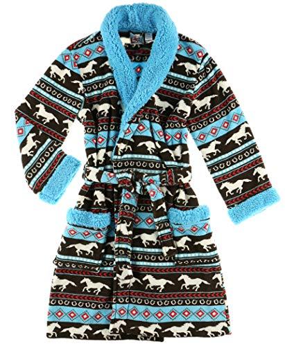 Lazy One Horse Fair Isle Ultra-Cozy Bathrobes for Women (S/M)