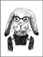【FOX REPUBLIC】【うさぎ 眼鏡】 白光沢紙(フレーム無し)A2サイズ