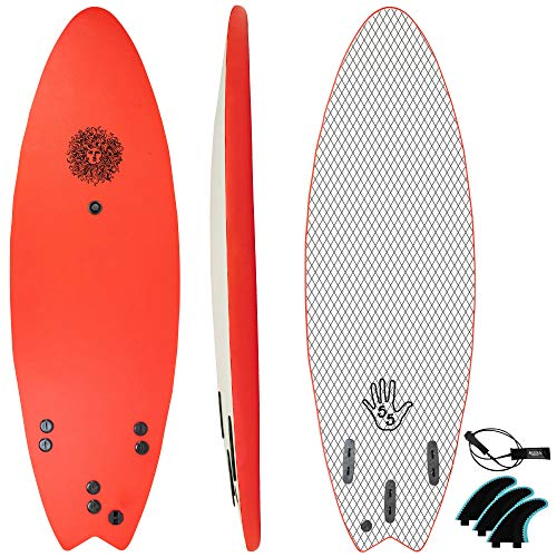 KONA SURF CO. The 5-5 Surfboard for Beginners Kids and