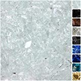 "Celestial Fire Glass Ultra Clear, 1/2"" Tempered Fire Glass in Diamond Starlight 