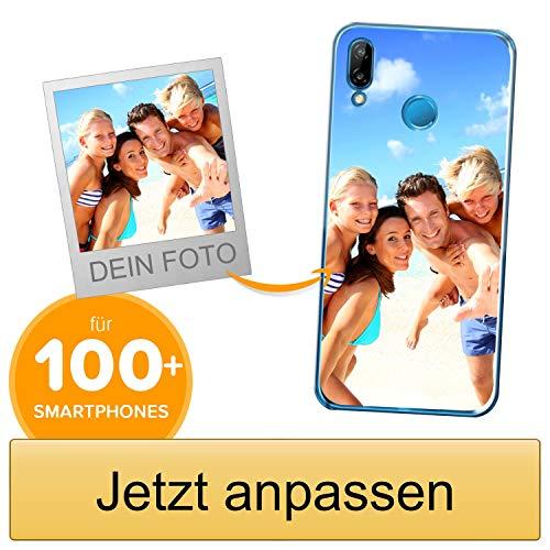 Coverpersonalizzate.it Handyhülle für Huawei P20 Lite mit Foto-, Bildern- oder Text selbst gestalten- Die Handyhülle ist aus weichem transparentem TPU-Silikon-Gel Material