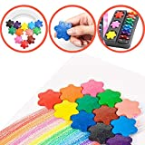 He-art Kinder Finger Buntstifte für Baby Grip 12 Zeichenwerkzeuge Schneeflocken Puzzle Baustein Kinder Denkspiel Spielzeug Malen Bleistifte -