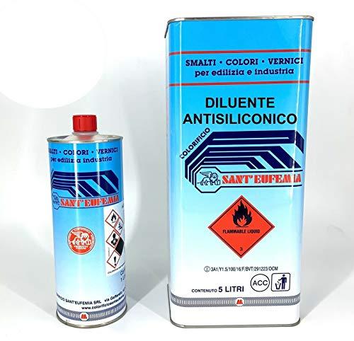 SOLVENTE ANTISILICONICO Antisilicone Rimuove Impurità Per Auto Moto 1-5-25 LT (1 Litro)