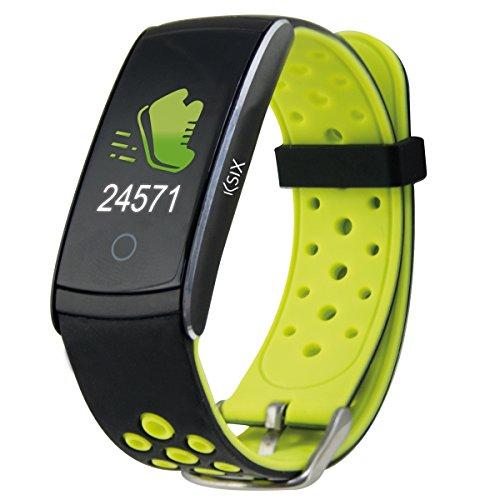 Ksix Fitness Band HR2 - Pulsera Deportiva con Monitorización Completa de la Actividad Física, Color Verde