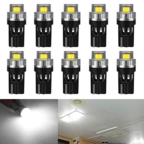 10 Stück Weiß T10 W5W 12V Canbus Fehlerfreie Glühlampen ersetzen die Lampe 2825 194 168 501