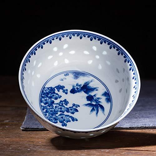 wei/ß GR/ÄWE Suppenschalen Set mit chinesischen L/öffeln f/ür 2 Personen